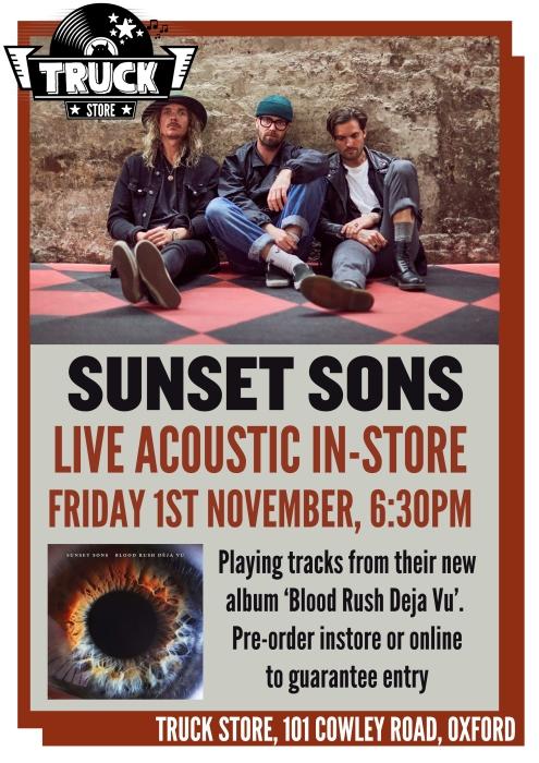 sunset sons instore